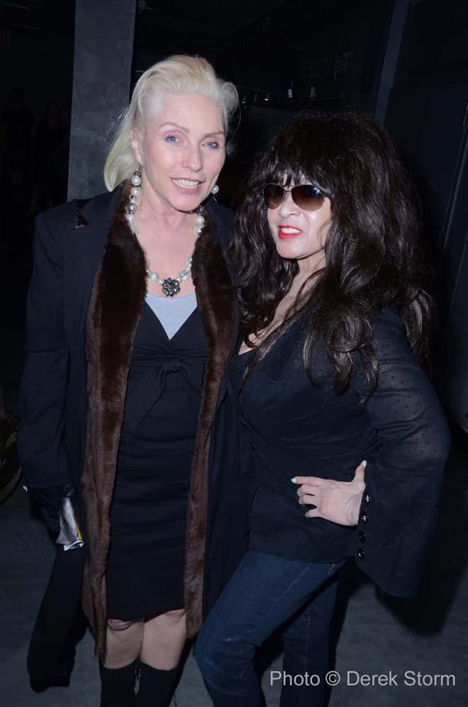 Debbie Harry-Ronnie Spector photo by Derek Storm