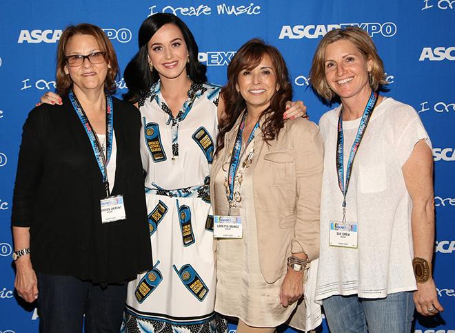 ASCAP's Brendan Okrent, Katy Perry, ASCAP's Loretta Munoz and Sue Drew