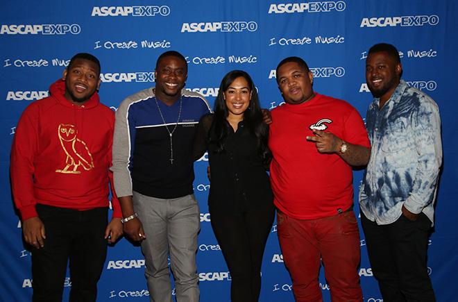 Producer Boi-1da, Producer-songwriter Harmony Samuels, ASCAP's Jennifer Drake, DJ Mustard and DJ Camper