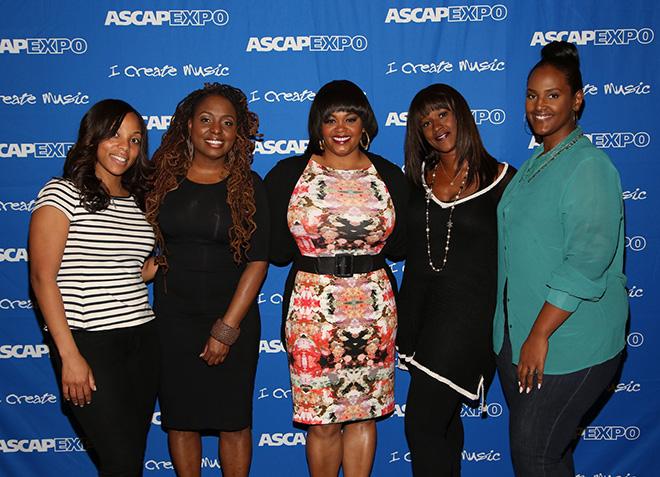 ASCAP's Nicole George-Middleton, songwriter Ledisi, songwriter Jill Scott, Chris Brown's manager Tina Davis and Universal Music Publishing Group's Ethiopia Habtemariam