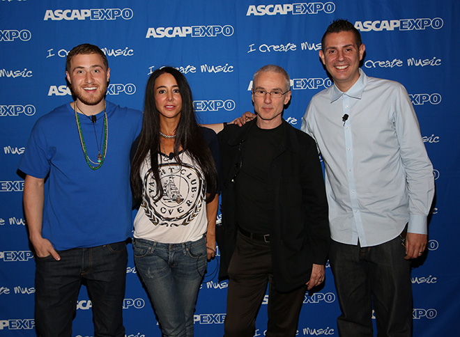 Songwriter-producer Mike Posner, songwriter-producer Antonina Armato, composer Michael Brook and ASCAP's Marc Emert-Hutner