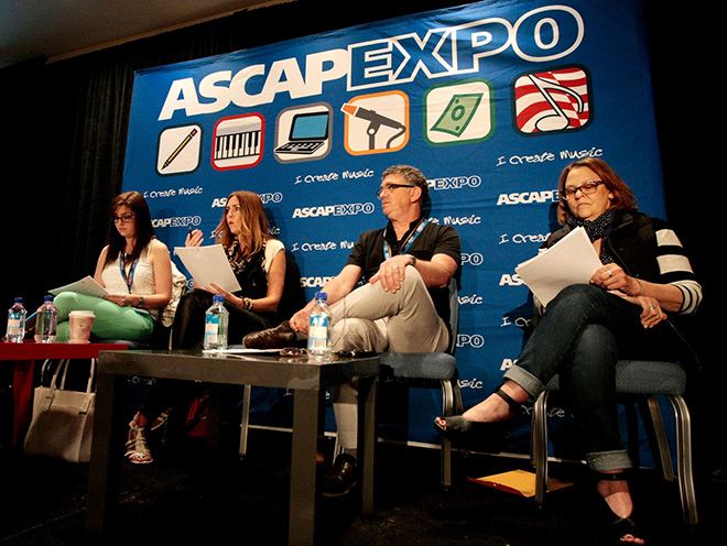 Warner/Chappell's Katie Donovan, Songwriter Victoria Horn, Music publisher Steve Lindsey and ASCAP's Brendan Okrent during the Pop/Rock Feedback panel
