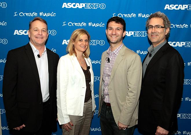 Steve Butler, Esq., and Zeina Grenier, Esq., ASCAP's Andrew Sparkler and Ken Abdo, Esq.
