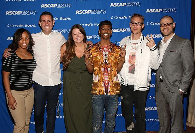 ASCAP's Nicole George-Middleton, Marc Emert-Hutner, Jamie McLaughlin, rapper Big Sean, Diplo and Billboard Editor-in-Chief Bill Werde