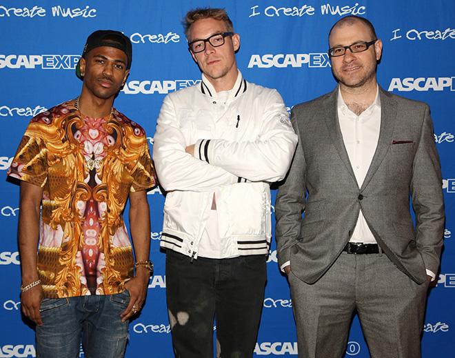 Rapper Big Sean, Diplo and Billboard Editor-in-Chief Bill Werde