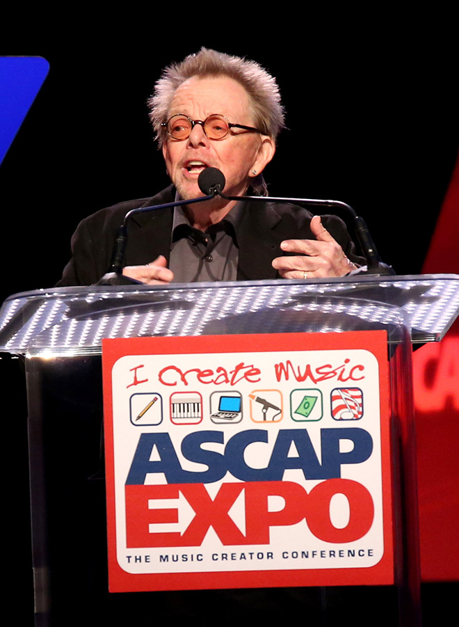 ASCAP President and Chairman Paul Williams addresses the crowd at the ASCAP Annual Membership Meeting