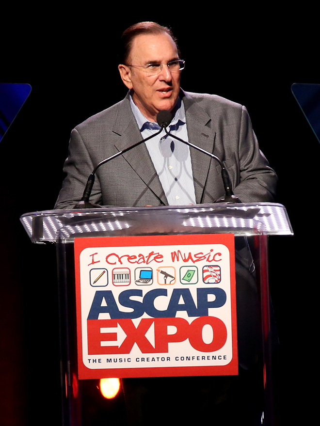 ASCAP CEO John LoFrumento addresses the crowd at the ASCAP Annual Membership Meeting