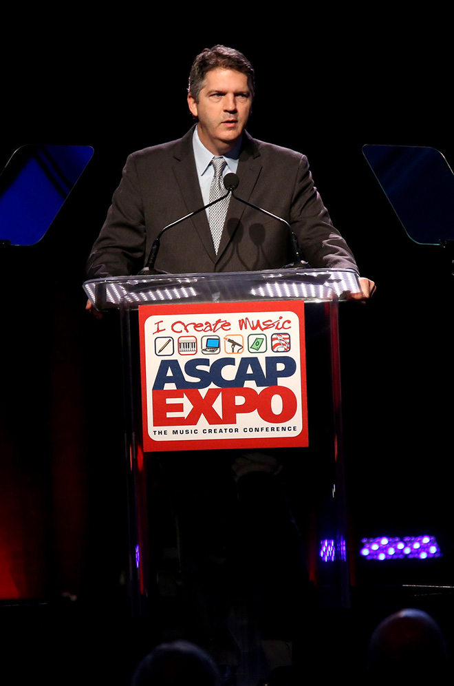 ASCAP EVP of Membership Randy Grimmett addresses the crowd at the ASCAP Annual Membership Meeting