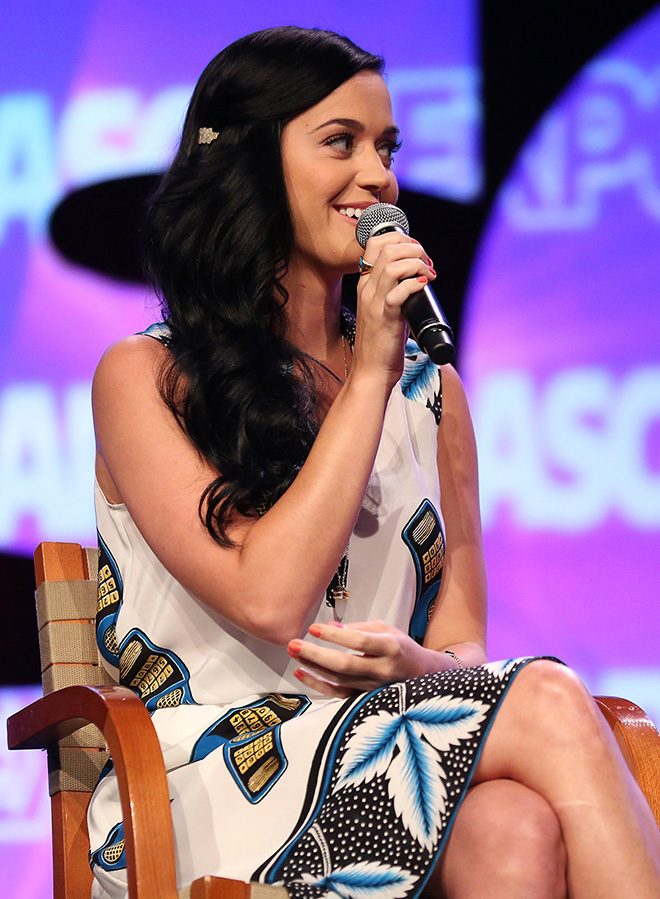 """Katy Perry during her panel Wide Awake: """"I Create Music"""" Interview"""