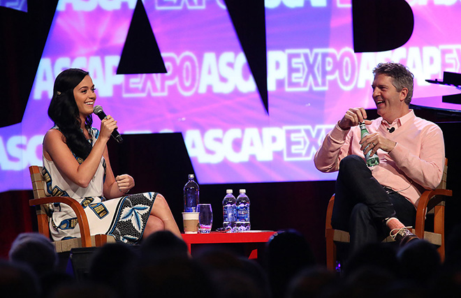 """Katy Perry and ASCAP EVP Randy Grimmett during the panel Wide Awake: """"I Create Music"""" Interview"""