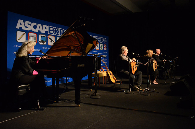 """Judy Collins, John Lind, Gretchen Peters and Randy Goodrum perform at the """"I Create Music"""" Center Stage"""