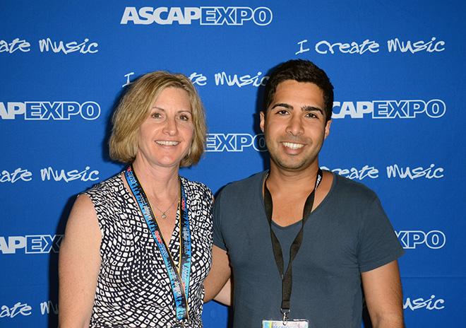 ASCAP's Sue Drew and songwriter Savan Kotecha