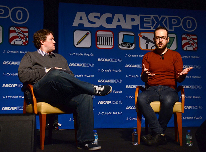 ASCAP's Jeff Jernigan moderates the panel Soundtracking the Future: The Music of Oblivion with panelist composer Joe Trapanese