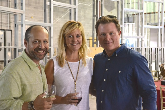 Pictured (left to right):  City Winery's Michael Dorf, SESAC's Ellen Truley and actor Todd Truley.