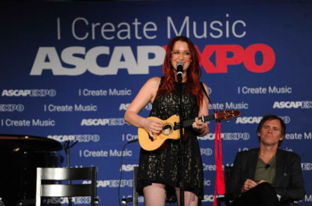 HOLLYWOOD - APRIL 30: Ingrid Michaelson performs during The Way I Am: Master Session with Ingrid Michaelson in Story and Song at the 2015 ASCAP 'I Create Music' EXPO at the Loews Hollywood Hotel on April 30, 2015 in Hollywood, California. (Photo by Frank Micelotta/PictureGroup)