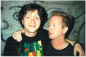 Mark Cawley with Glenn Tilbrook of Squeeze