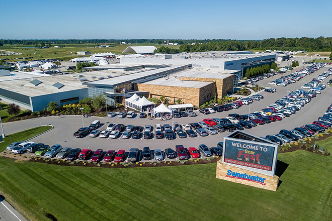 GearFest completely takes over the Sweetwater campus with parking, camping sites, gear tents, a performance pavilion, the retail store, and the massive interior of the Sweetwater building.