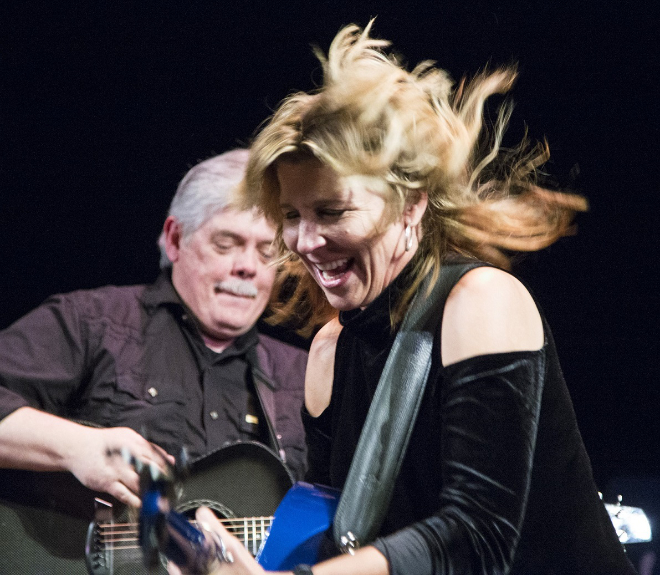 Terri Hendrix - with Lloyd Maines - Photo credit Ira Hantz
